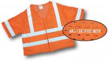 CL3 Orange Mesh Vest 2Sil