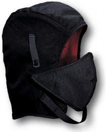 WL4-250V Black Twill Long Nape W/Mouthpiece