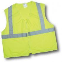 CL2 Lime Solid Non Durable Flame Retardant Vest
